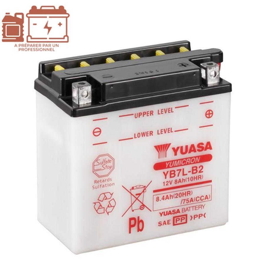 Batterie Yuasa YTZ6V 12V 5Ah - Pièces Electrique sur La Bécanerie