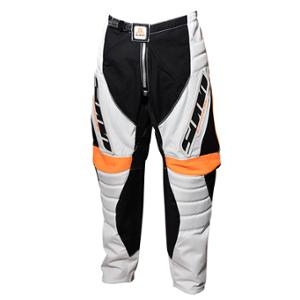 PANTALON BMX LYNX ADULTE BLANC / NOIR / ORANGE T36