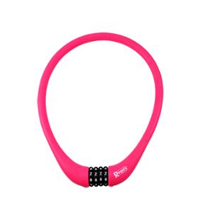 ANTIVOL VELO CABLE A CODE D15 X 0.75M RANGERS 100 % SILICONE ROSE