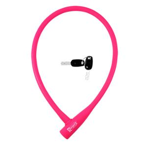 ANTIVOL VELO CABLE A CLE D12 X 0.75M RANGERS 100 % SILICONE ROSE
