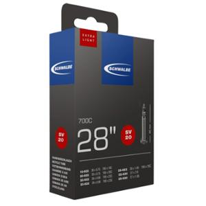CHAMBRE AIR ROUTE 700X18 / 25 VP SCHWALBE SV20 EXTRA LIGHT VALVE 40MM (OBUS DEMONTABLE)